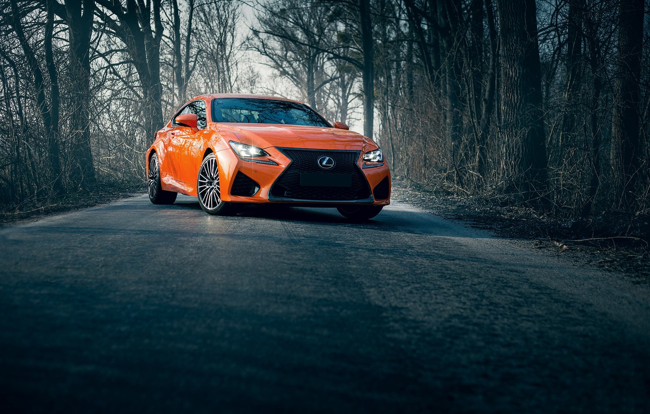 Photo wallpaper lexus, road, orange, rcf