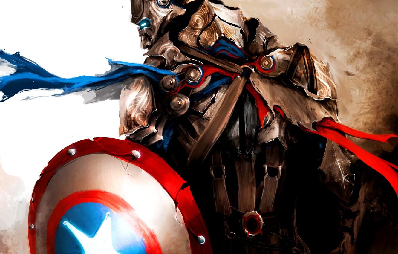 Photo wallpaper marvel, medieval, marvel, captain america, captain America, first avenger, the first avenger, the Avengers, steve …