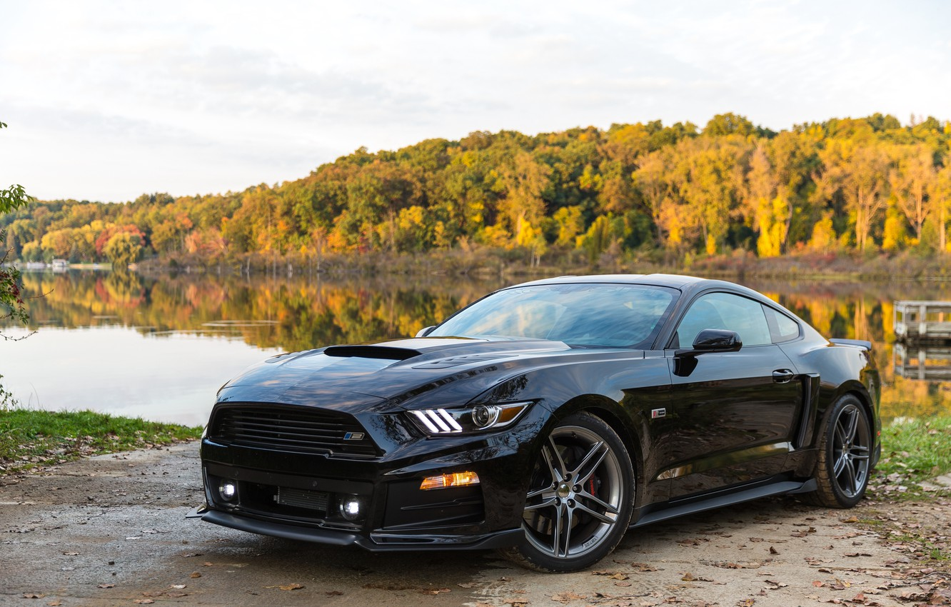 Photo wallpaper Mustang, Ford, Mustang, Ford, 2014, Roush Stage 2