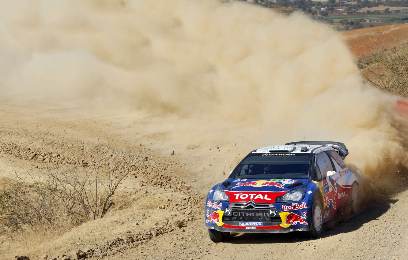 Photo wallpaper Speed, Race, Citroen, Car, Red Bull, DS3, WRC, Rally, Competition, The veil