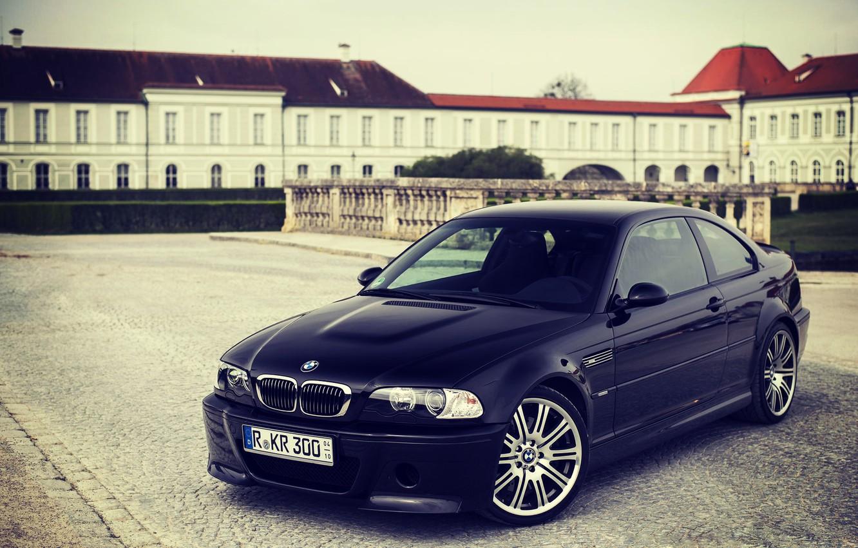 Photo wallpaper BMW, Black, BMW, Black, E46