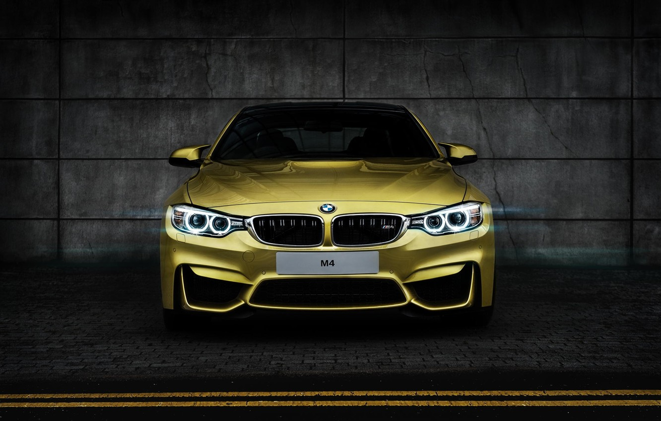 Photo wallpaper BMW, BMW, yellow, yellow, Coupe, front, F82, Tomirri photography