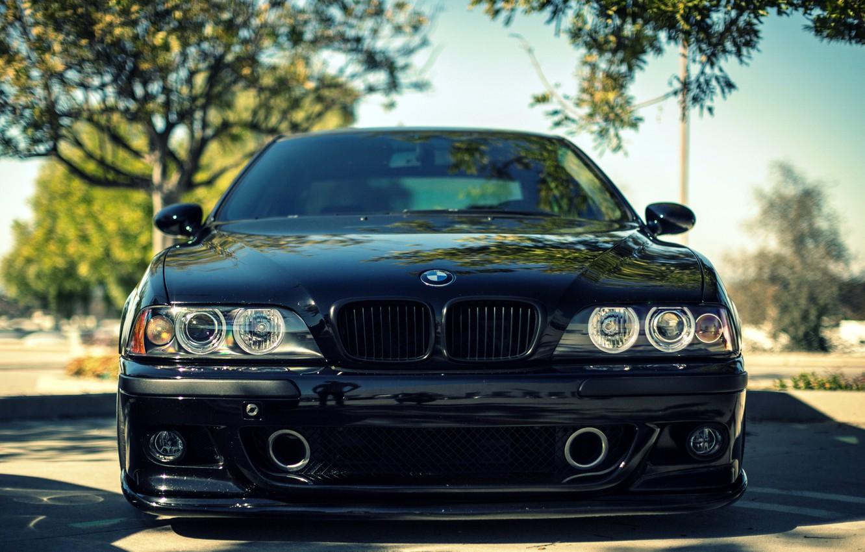Photo wallpaper BMW, sedan, black, front, 5 series, bmw m5, e39