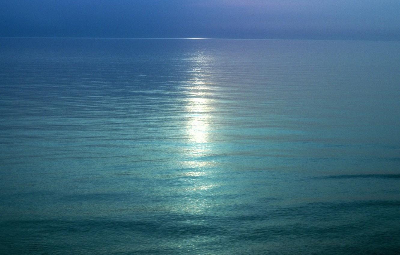 Photo wallpaper trail, Water, horizon