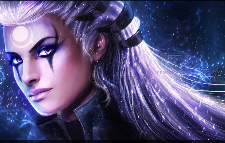 Wallpaper League Of Legends Lol Diana Diana League Of