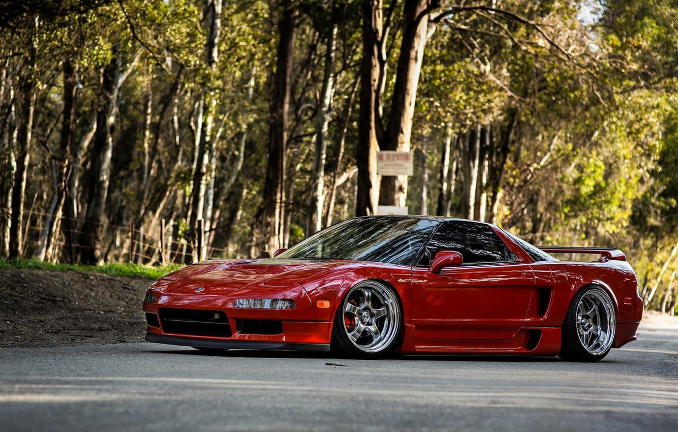 Photo wallpaper car, machine, tuning, desktop, red, honda, car, red, jdm, tuning, wallpapers, acura, nsx, Acura, automobiles