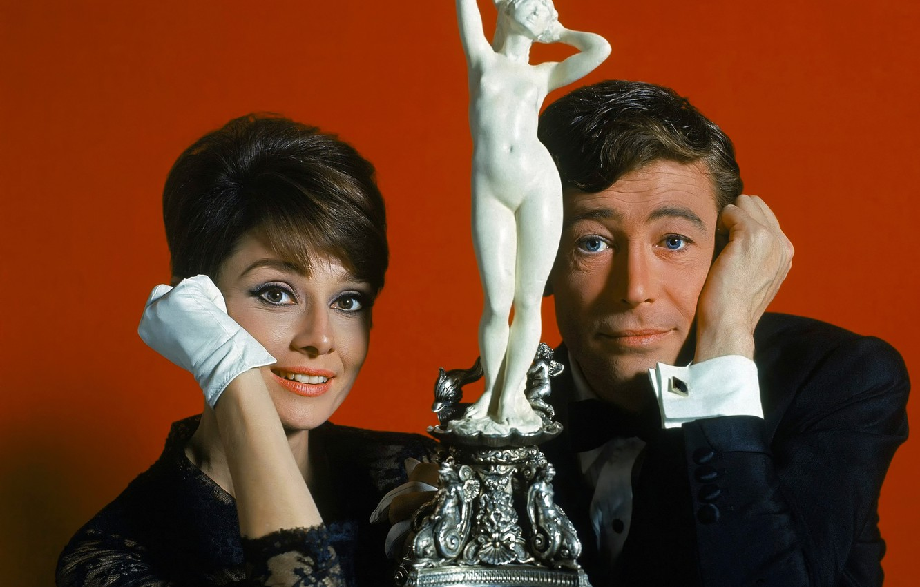 Photo wallpaper retro, Audrey Hepburn, 1966, Peter O'Toole, How To Steal A Million, How to steal a …