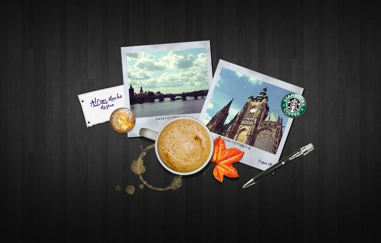 Photo wallpaper travel, creative, coffee, handle, mug, photos, mugs, handle