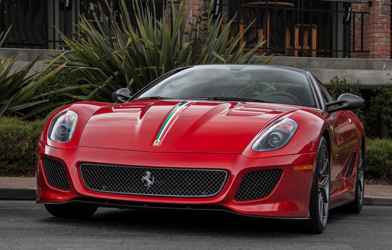 Photo wallpaper car, Ferrari, red, 599, GTO, super