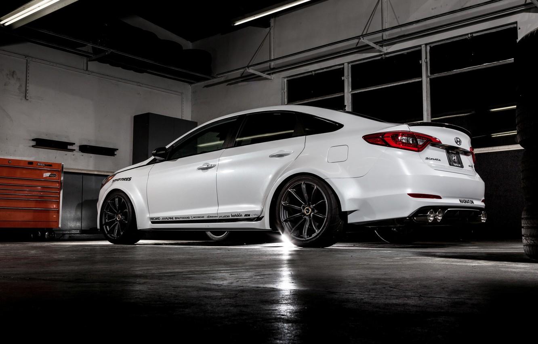 Photo wallpaper garage, Hyundai, Sonata, Sofit