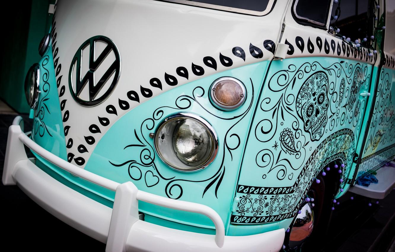 Photo wallpaper machine, auto, Volkswagen, optics, before