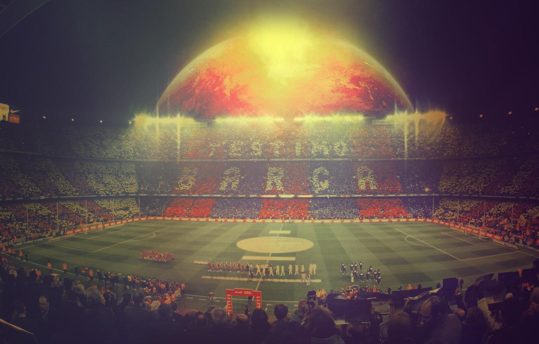 Photo wallpaper people, football, sport, sport, Spain, stadium, players, football, Leopard, Barcelona, Spain, Espana, Real Madrid, Camp …
