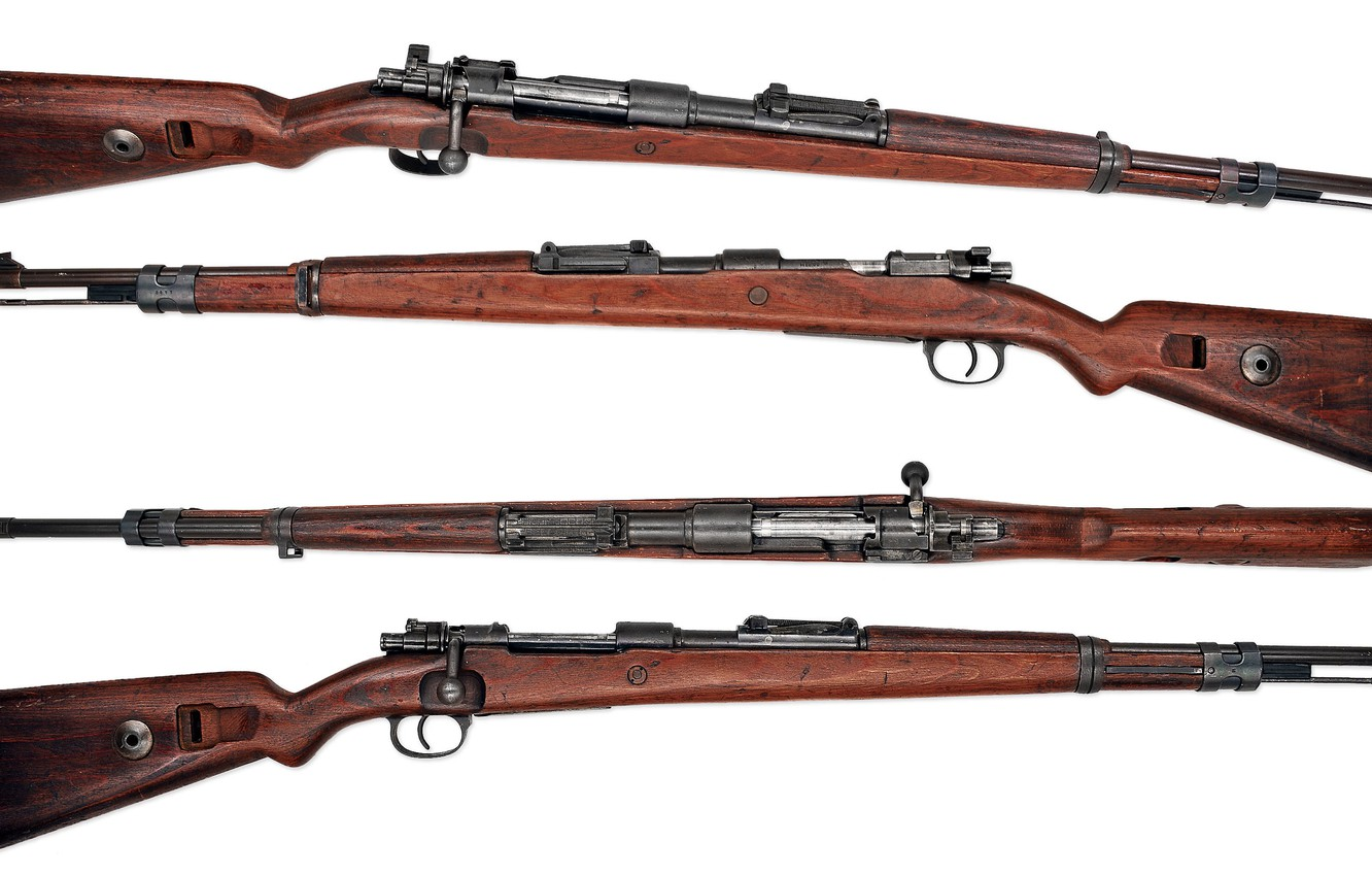Photo wallpaper weapons, background, rifle, store, Mauser 98k