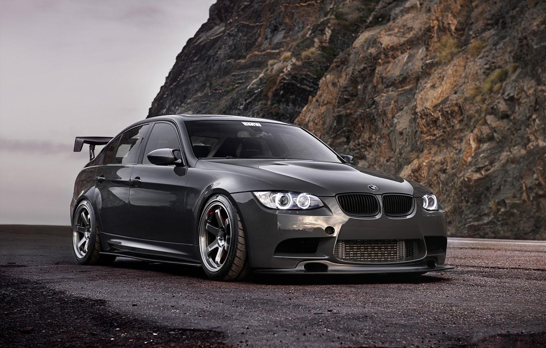 Photo wallpaper rock, BMW, BMW, 335i, front, E90, 3 Series