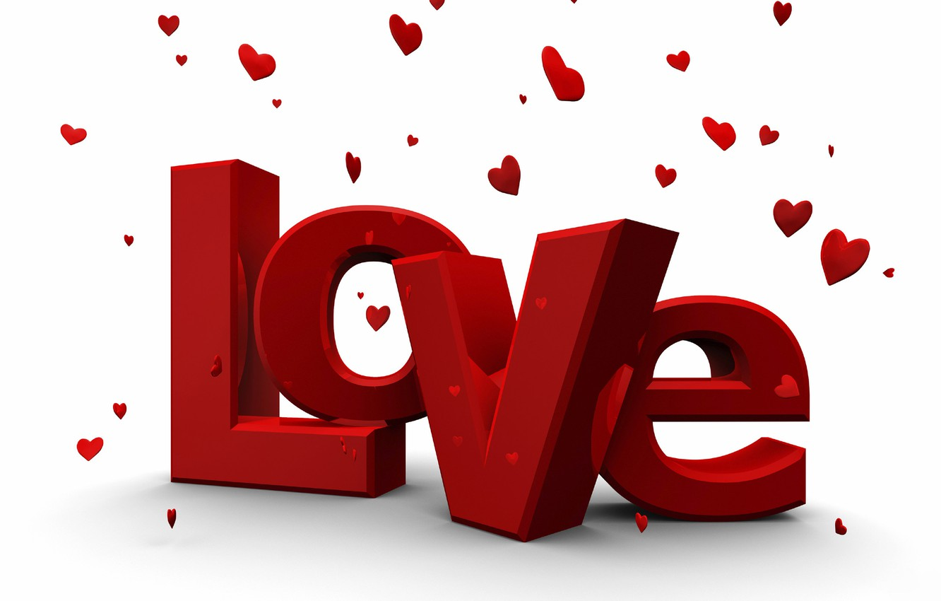 wallpaper love, love, hearts, the inscription, valentine's day, 14
