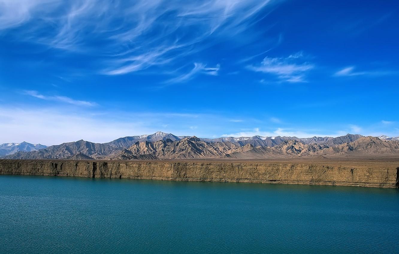 Photo wallpaper nature, water, lake