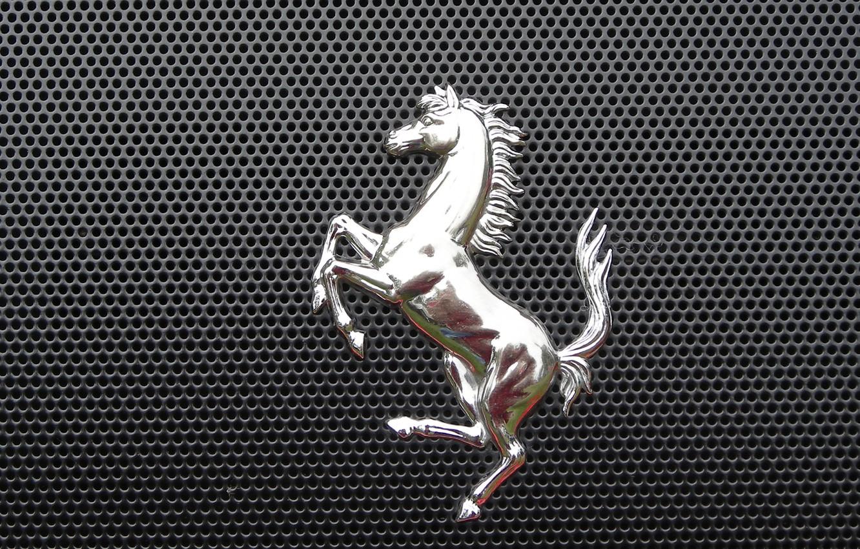 Photo wallpaper metal, horse, grille, emblem, 2014