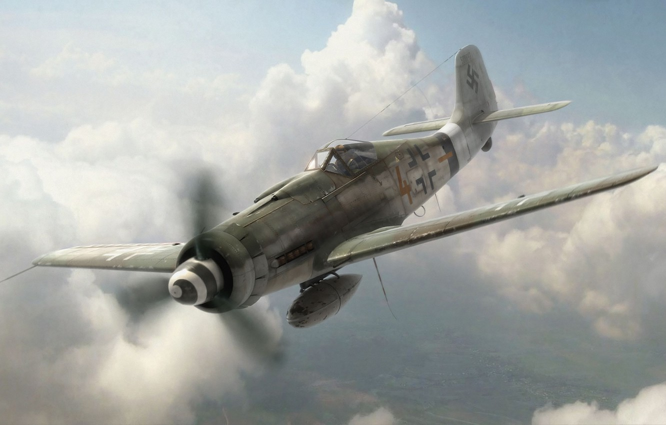 Wallpaper aircraft, war, airplane, aviation, ww2, dogfight