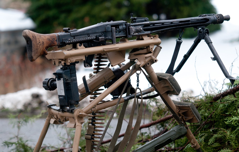 Photo wallpaper war, machine gun, German, world, Second, times, MG 42, single, (Machine gun 42)