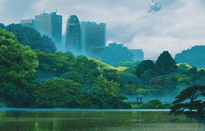 Wallpaper Makoto Xingkai Kotonoha No Niwa The Garden Of Words