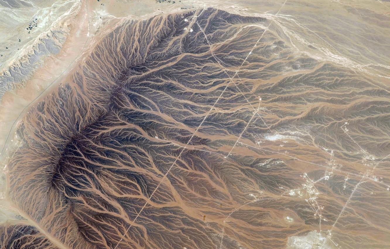 Photo wallpaper space, planet, Earth, NASA, river, relief, the, photo, Oman, Tan'am