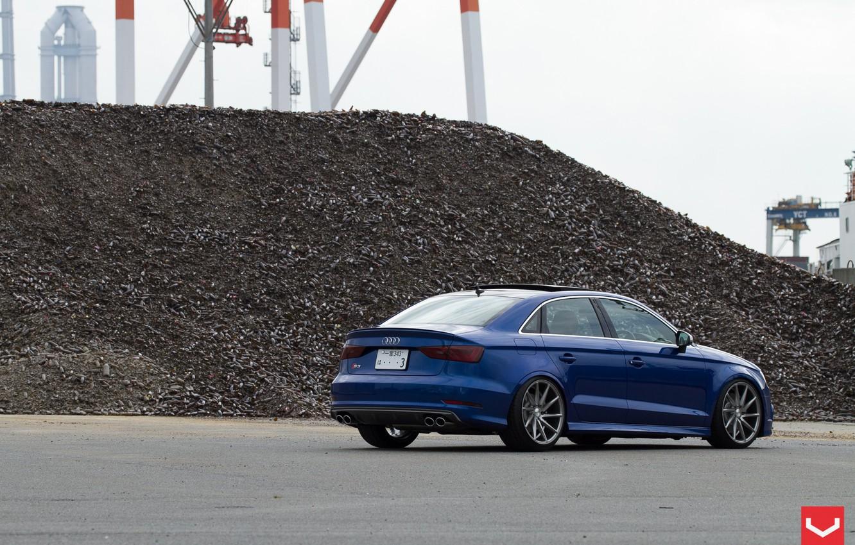 Photo wallpaper Audi, tuning, Audi, sedan, Vossen, S3