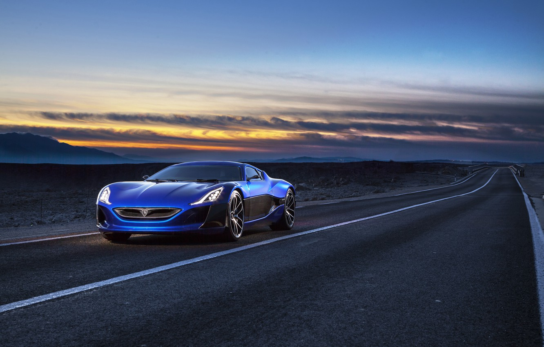 Photo wallpaper Concept One, Rimac, 2014, electric car, RIMAC