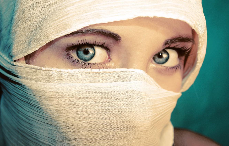 Photo wallpaper eyes, look, girl