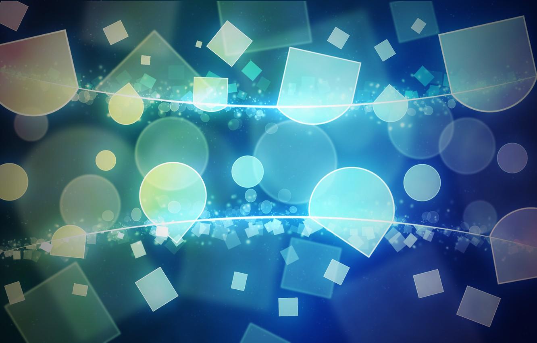 Photo wallpaper line, cubes, Shine, geometry