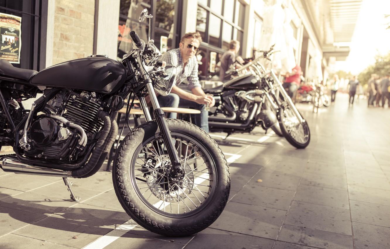 Photo wallpaper summer, honda, motorcycle, motorbike, cafe racer