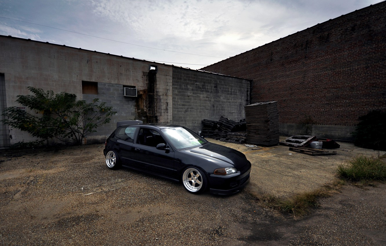 Photo wallpaper Honda, Civic, Stance, Low, BellyScrapers, CCW, eg6