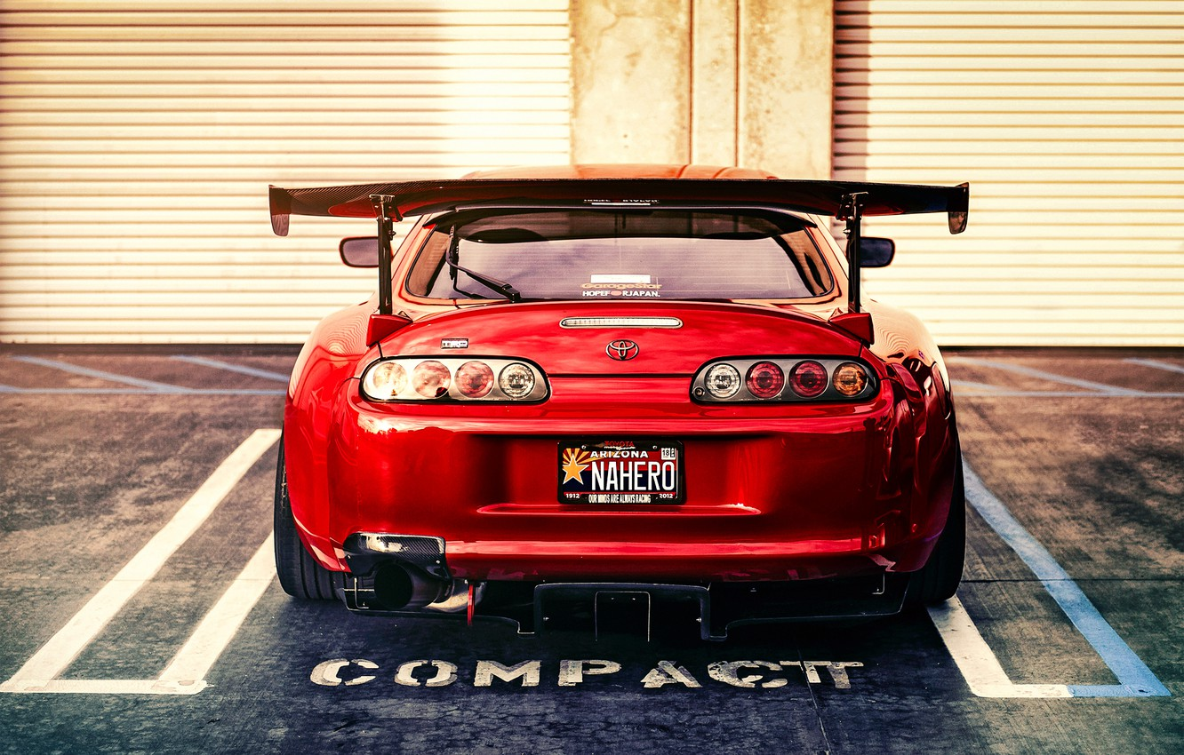 Wallpaper Tuning Sports Car Toyota Red Rear View Supra Images