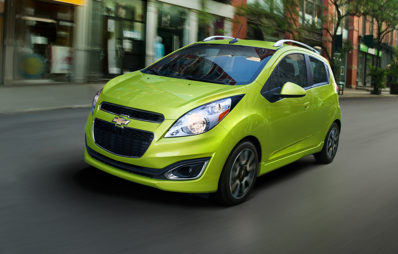 Photo wallpaper city, Speed, Chevrolet, Red, Chevy, 2013, spark