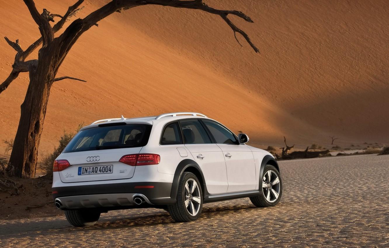 Photo wallpaper white, Audi, desert, Allroad