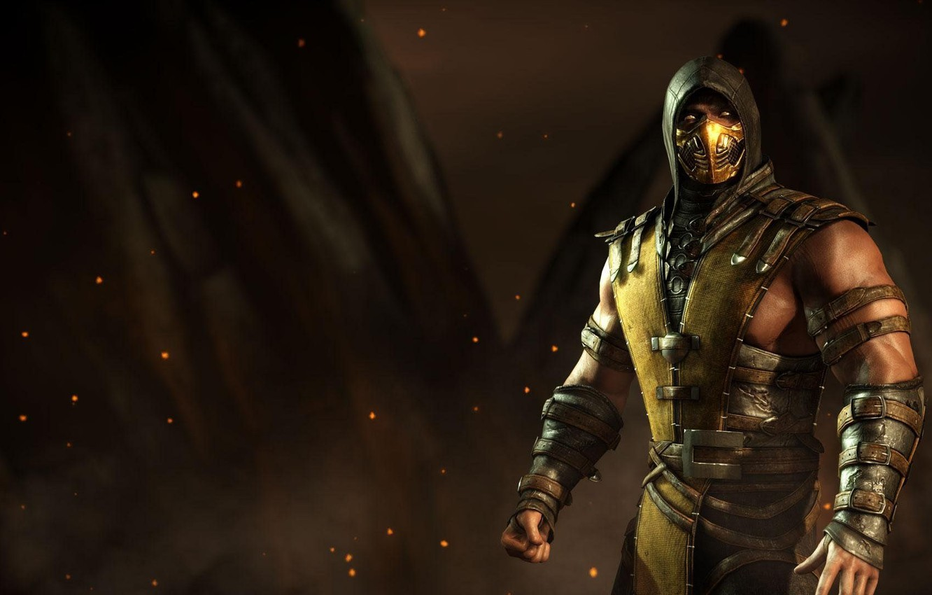 Wallpaper Mortal Kombat 10 Scorpio Scorpion Mortal Kombat X