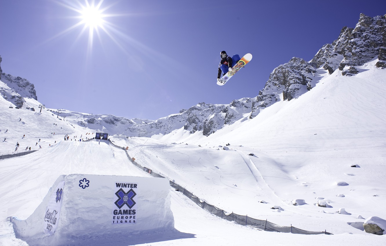Wallpaper Travis Rice X Games Grab Snowboarding Images