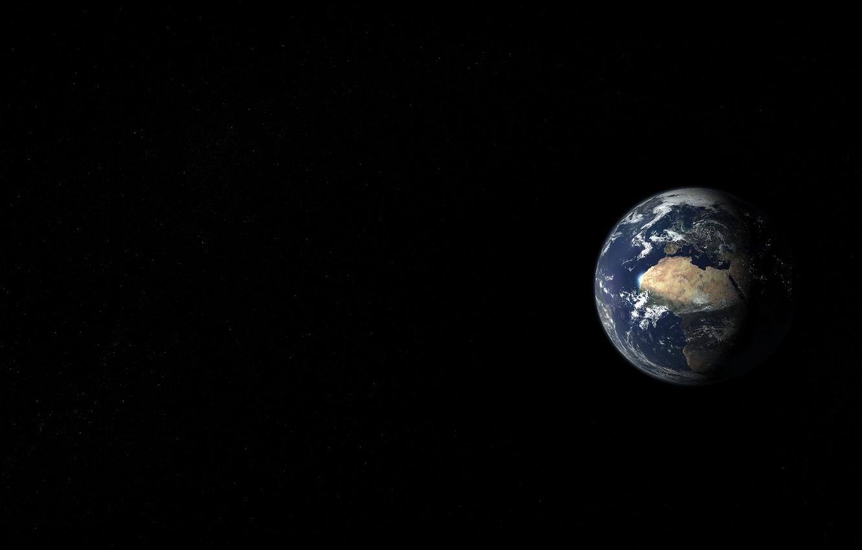 Photo wallpaper space, landscape, earth, view, planet