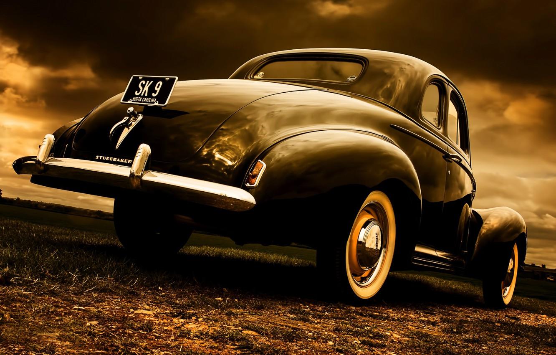 Photo wallpaper style, retro, Coupe, Studebaker, 1940