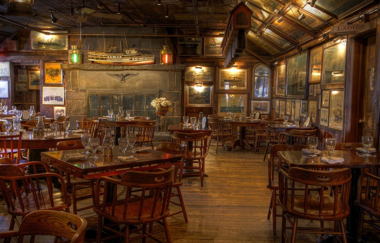 Photo wallpaper furniture, interior, restaurant