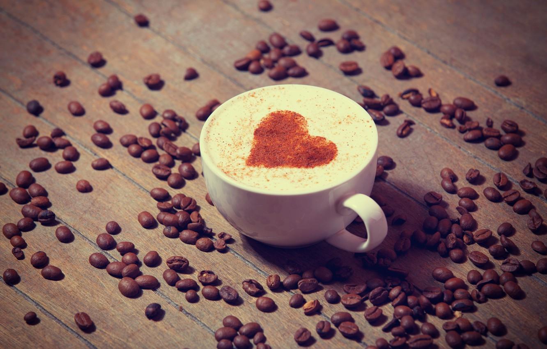 Photo wallpaper love, heart, coffee, milk, Cup, love, heart, cocoa, coffe