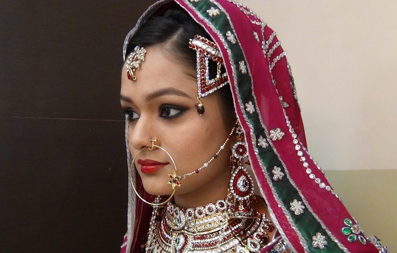 wallpaper girl, decoration, east, wedding makeup, muslim