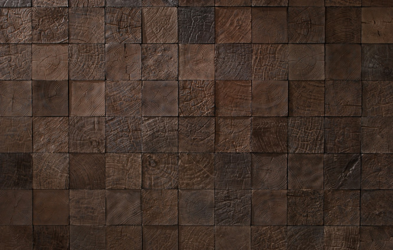 Photo wallpaper wood, texture, pattern, effect, square wood