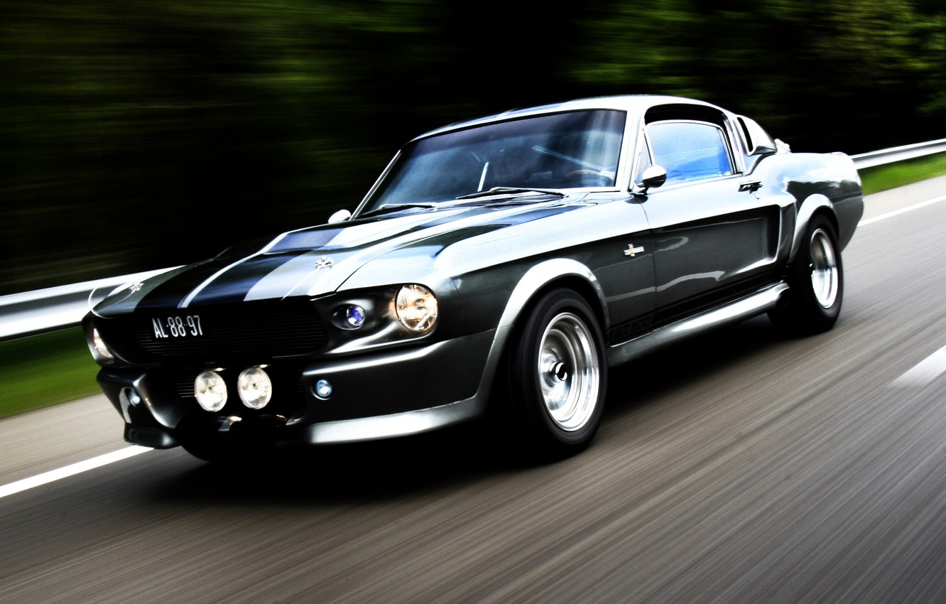 Photo wallpaper road, strip, tuning, Mustang, Ford, GT500, Mustang, Eleanor, muscle car, Ford, tuning, the front, Muscle ...