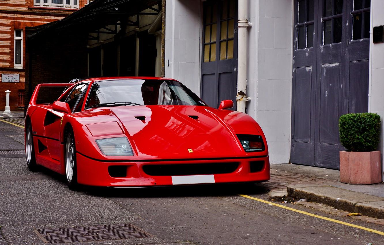 Photo wallpaper Ferrari, red, F40, Ferrari, F40