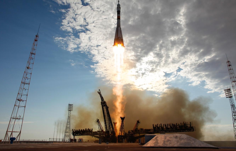 Photo wallpaper start, Baikonur, Soyuz TMA-05M