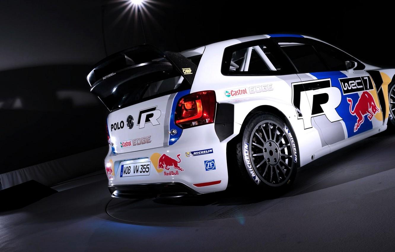 Photo wallpaper Auto, White, Sport, Volkswagen, Machine, Red Bull, WRC, Rally, The room, Polo