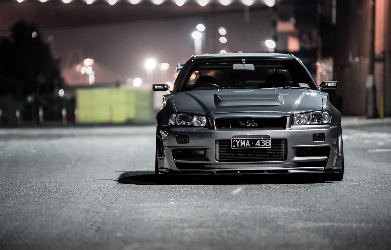 Wallpaper Nissan Skyline Gt R Gtr R34 Stance Spec Photo