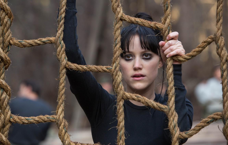 Wallpaper girl, frame, rope, brunette, ropes, training