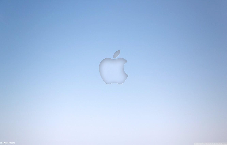 Photo wallpaper grey, background, blue, apple, Apple, minimalism, computers