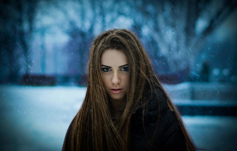 Photo wallpaper hair, portrait, Darina